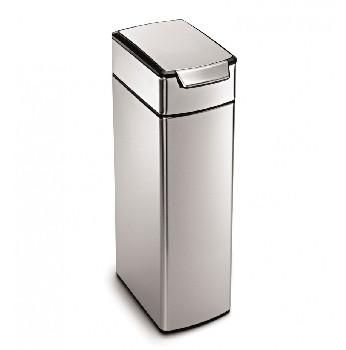 An image of Simplehuman 40 Litre Slim Rectangular Touch Bar Kitchen Bin