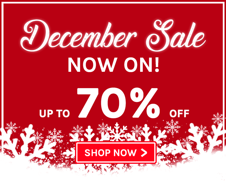 Up To 70% Off! December Sale