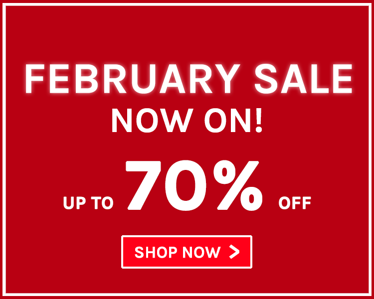 Up To 70% Off! February Sale